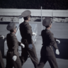North Korea soldiers marching